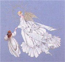 Схема Ангел милосердия 28,Lavender & Lace,Схемы для вышивки крестом,Печатная продукция,ангелы,.  Рукоделие.