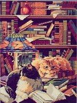 """Ищу, ищу, ищу этих котов.  Ищу схему, но буду благодарна за любую информацию об этом.   """"Коты в библиотеке """" ."""