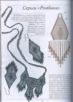 схемы сережек из бисера кирпичным плетением - Нужные схемы и описания для всех.