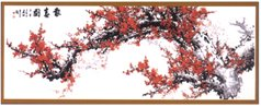 Архив Коллекция схем для вышивки крестиком, формируемая нашими .  Dimensions 72465 Oriental Charm - Ветка сакуры...
