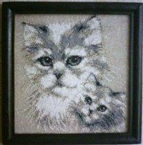 Хочу показать свои вышивки бисером по канве.  Мои любимые котики.  Подарены подруге и планирую...