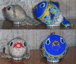 Автор Татьяна Никитенко.  Очень мне понравились эти рыбки, наплела всем знакомым разных расцветок и размеров.