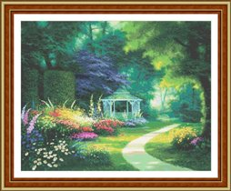 """Схема вышивки  """"В саду """": таблица цветов."""
