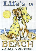 """Схема вышивки  """"Жизнь на пляже """": комментарии."""