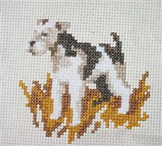 Набор для вышивания Собака, РТО Н076 купить в санкт петербурге Шале, Aida 14, Счетный крест.