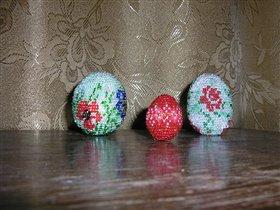 Мастер-класс Бисероплетение: МК бисерные яйца Бисер Пасха.  Фото 5. Другие фотографии также можно...