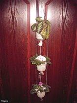 Козлова Марина Михайловна.  Кашпо для цветов, на три горшочка диаметром 9см. и высотой 8см.