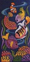 Золотая рыбка схема вышивки крестом.