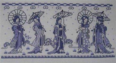 Скачать бесплатно японские схемы для вышивания крестом.