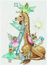 """Набор для вышивания Lanarte  """"Жираф и детишки """" - Интернет-магазин  """"Чудо-Ларец """" ."""