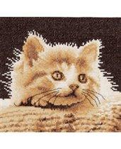 Сегодня начинаю вышивать вот такого котенка из сепийной серии.  Один котеночек из этой серии у меня уже есть...
