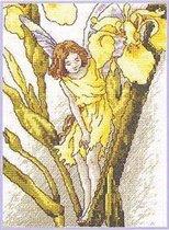 Вышивка Фея Ирисов Категория.  Цветы.  Ангелы и Феи & Мифические персонажи.
