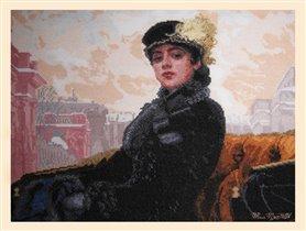 еще в яндексе нашла другую историю, кто была эта дама.  Но...  Набор Незнакомка (по картине И.Н. Крамского...