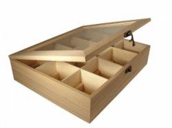 Коробочка деревянная для чая, 12 ячеек, 28,5х23,5х