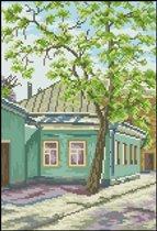 Вышивка крестиком - Переулок.  Категория.  15.11.2011. Просмотров: 138 Дата.  Пейзажи, строения.
