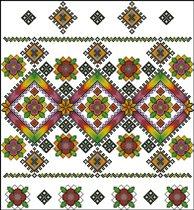 Схема - Узор-38: цена, описание, продажа - Схемы для вышивания крестиком.
