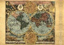 Бумага рисовая для декупажа. Старая карта мира