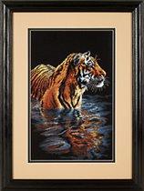 Набор для вышивания Tiger Chilling Out (Купающийся тигр) .
