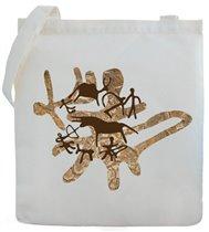 """Э-040 Холщовая сумка с наскальным рисунком  """"Охота 2  """". Э-040 Холщовая."""