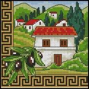 Интернациональное.  11х11 см. Канва Аида 14 (Zweigart Германия) белая, мулине Anchor, игла, цветная схема.