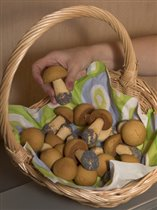 рецепт грибочки печенье в форме из пергамента