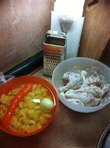 жаркое с курицей))))-подготовка
