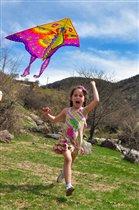 Лучшая игра на природе, запуск воздушного змея!