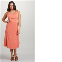 XCVI Plus A-Line Dress, Color: Papaya, Size: 1X
