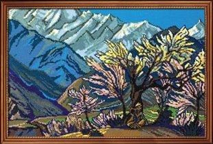 Набор для вышивания Горы, Риолис 944 купить в санкт петербурге Шале, Aida 11 (К4), Счетный крест.