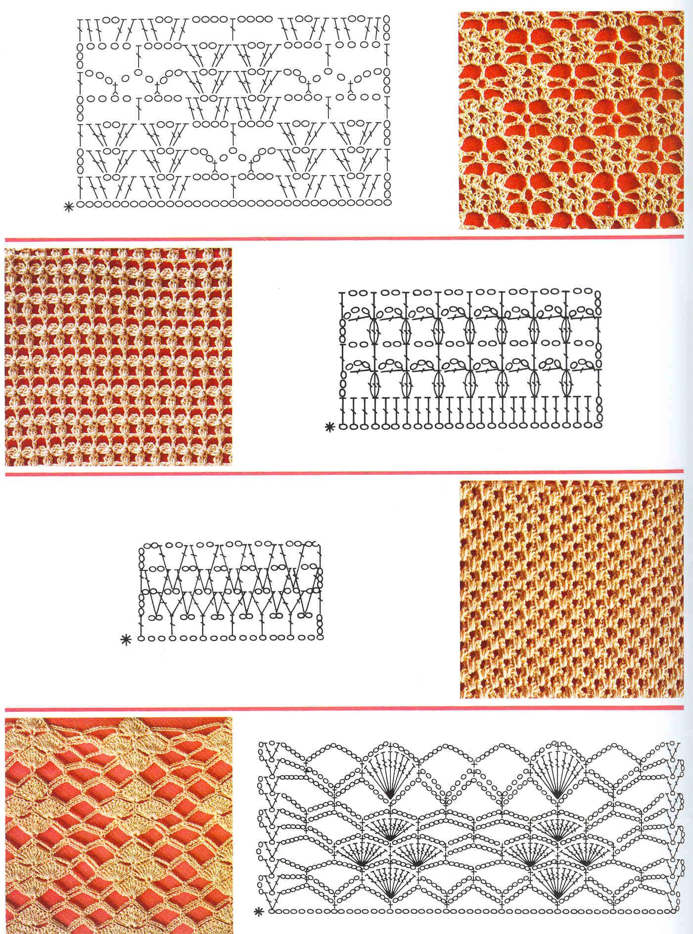 Вязание крючком схемы рисунки бесплатно 7