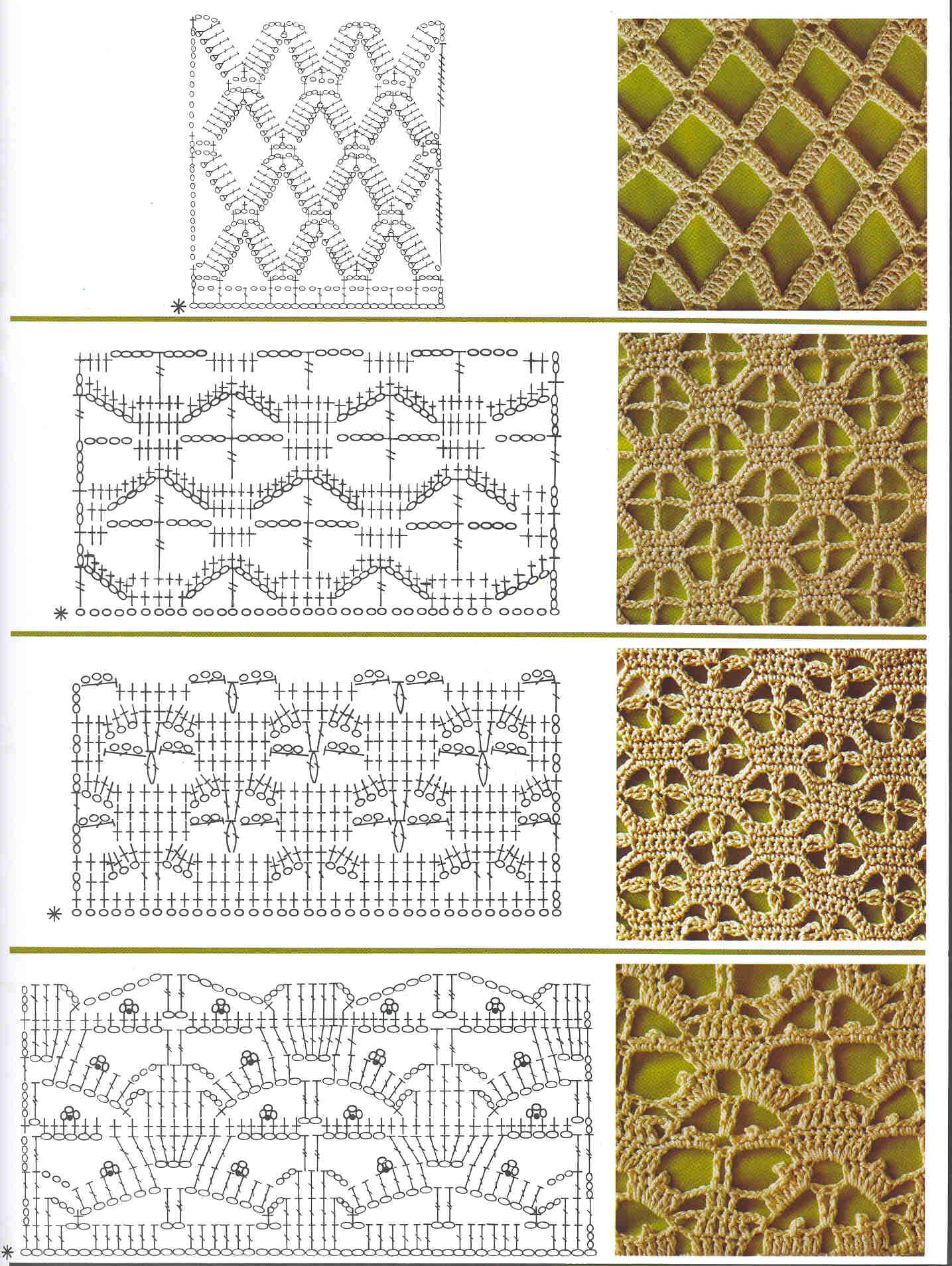 крючок вязание схема узоров