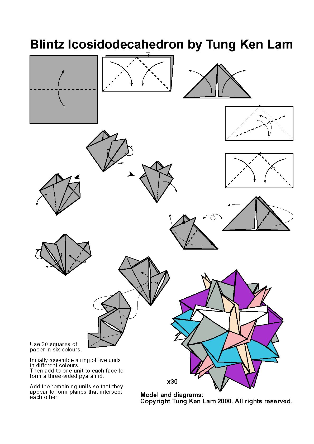 Как сделать ромбокубооктаэдр из бумаги