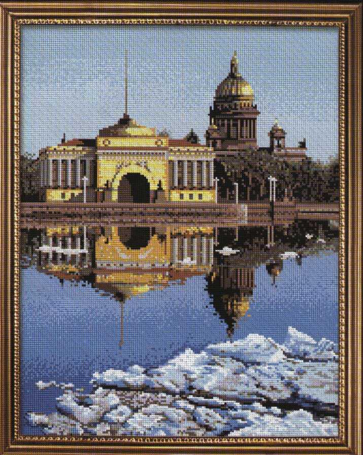 """В наборе для вышивания крестом  """"Весенний Петербург """" есть все необходимое для создания собственного чуда..."""