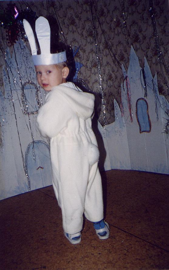 Новогодний костюм зайца для мальчика своими руками