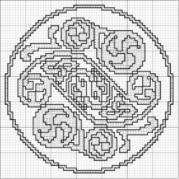Узор схема. Кельтские узоры