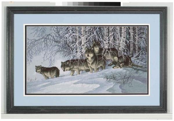 Winter s lace волки в зимнем лесу арт