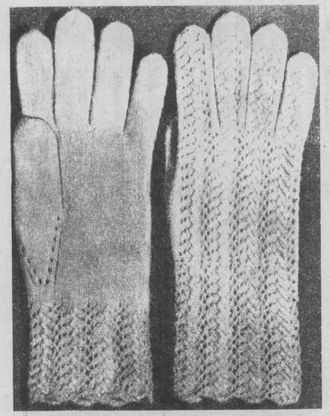 вязание ажурных перчаток крючком