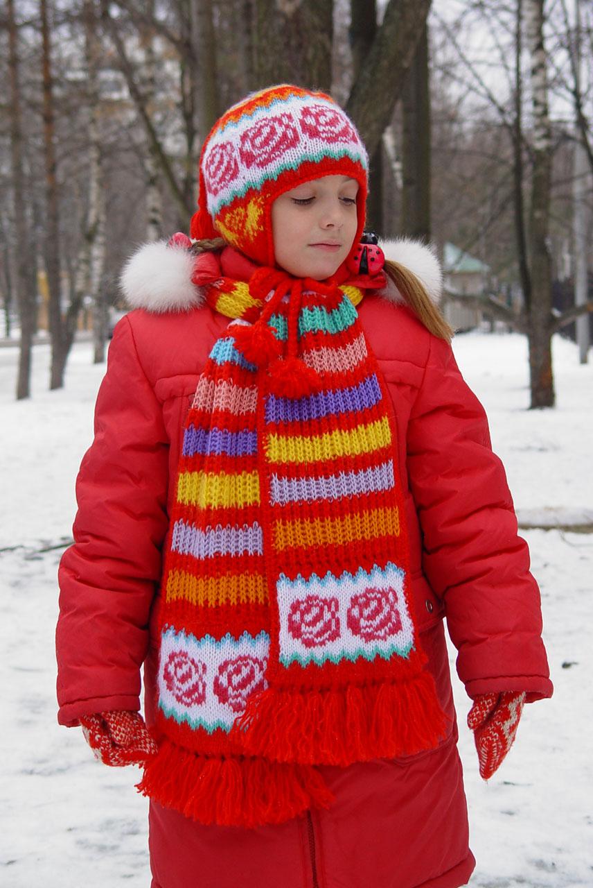 """Чудо, как хороши :) В теме и другие вязаные одежки еть!  2005 Шапка и шарф связаны из  """"ничего """", т.е. ненужных..."""