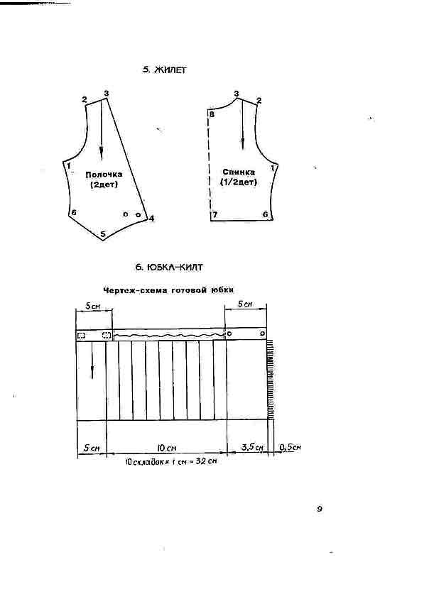 Как сшить жилетку и юбку 882