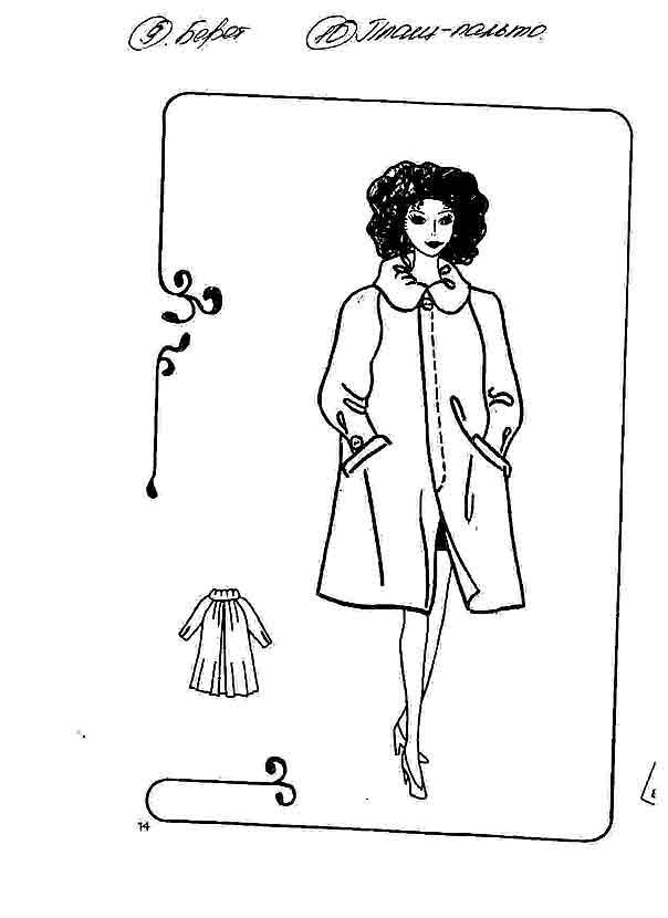 Выкройки одежды для куклы барби
