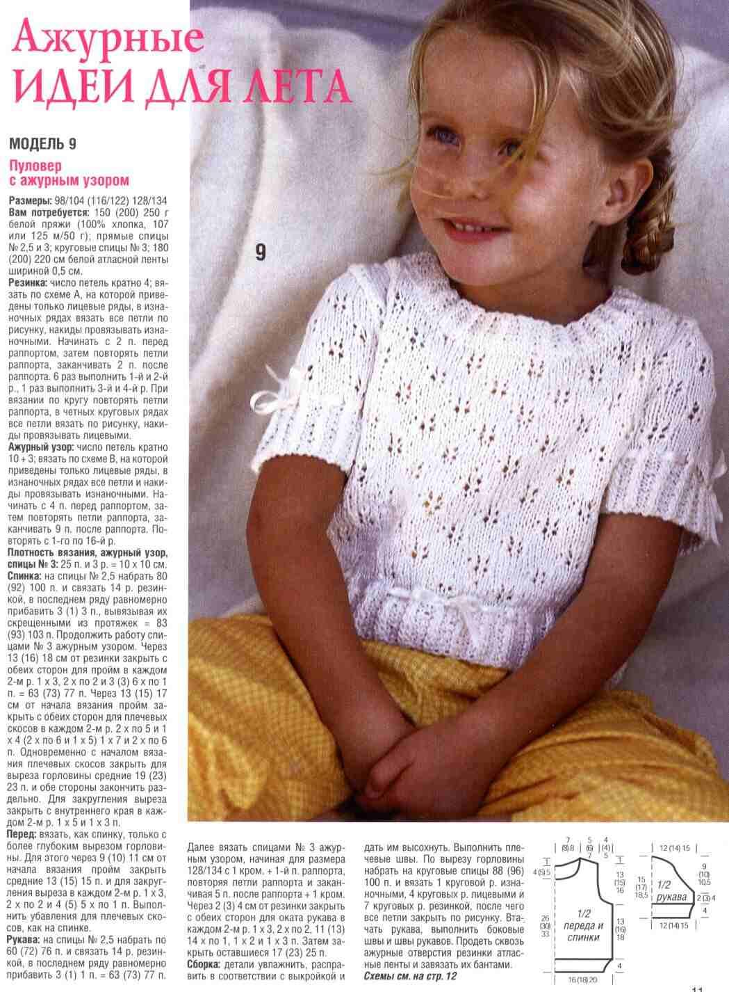 Вязание спицами с описанием фото для детей
