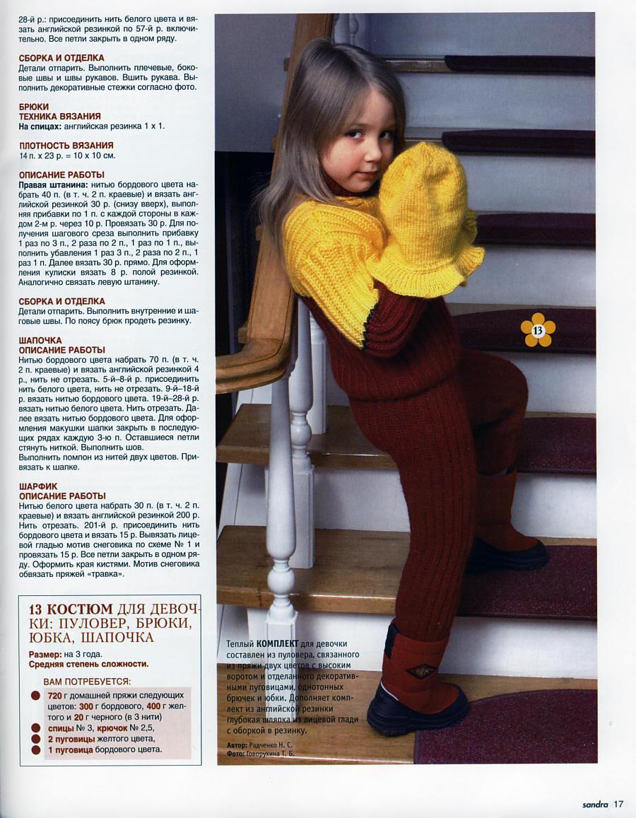 Вязание штанишек для девочки 3 лет 93