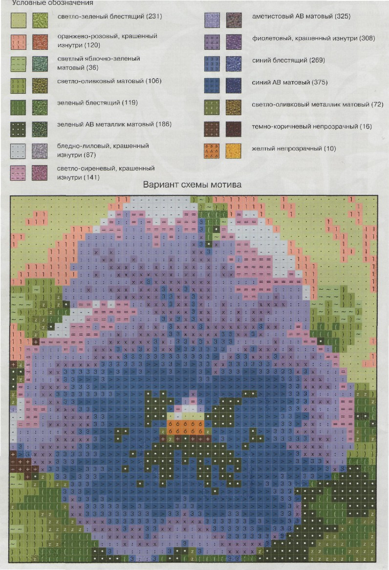 схемы для вышивки бисером в украине