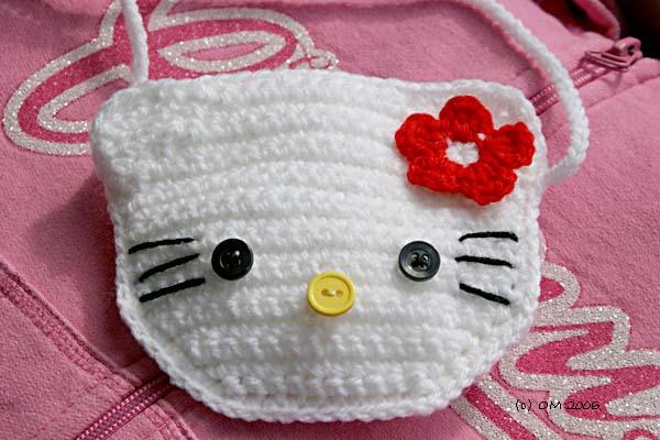 Hello, Kitty.  Сумочки с Китти крючком.  Вяжем косметичку (мастер-класс).  Косметички, связанные крючком.