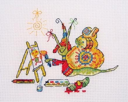 0. В состав набора включены: цветная схема, инструкция, ткань Aida, нитки DMC (разобранные по цветам)...