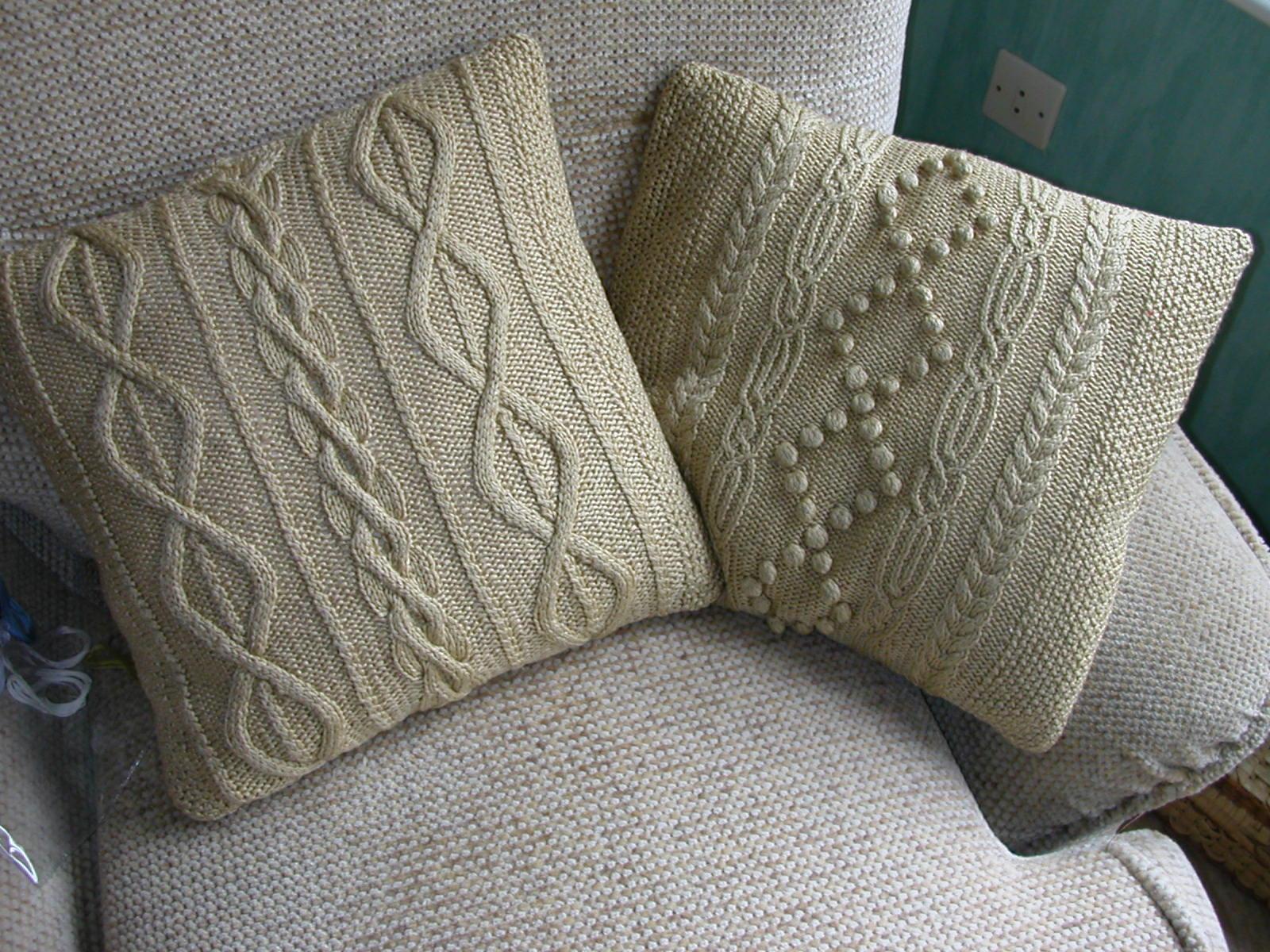 Вязание на подушку