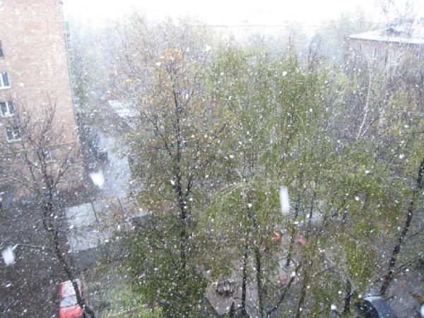У вас был сегодня снег?