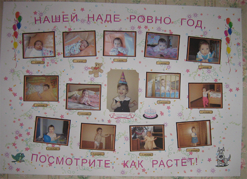 Фото плакатов на годик своими руками