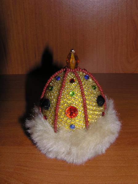 Пасхальное яйцо.  Шапка Мономаха.
