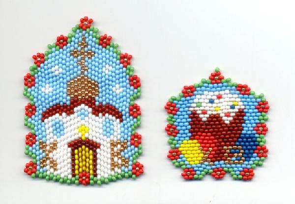 Пасхальные сувениры из бисера.